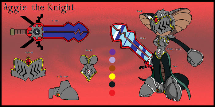 aggie the knight silver