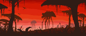 Morrowind pixel art landscape1. Silt Straiders