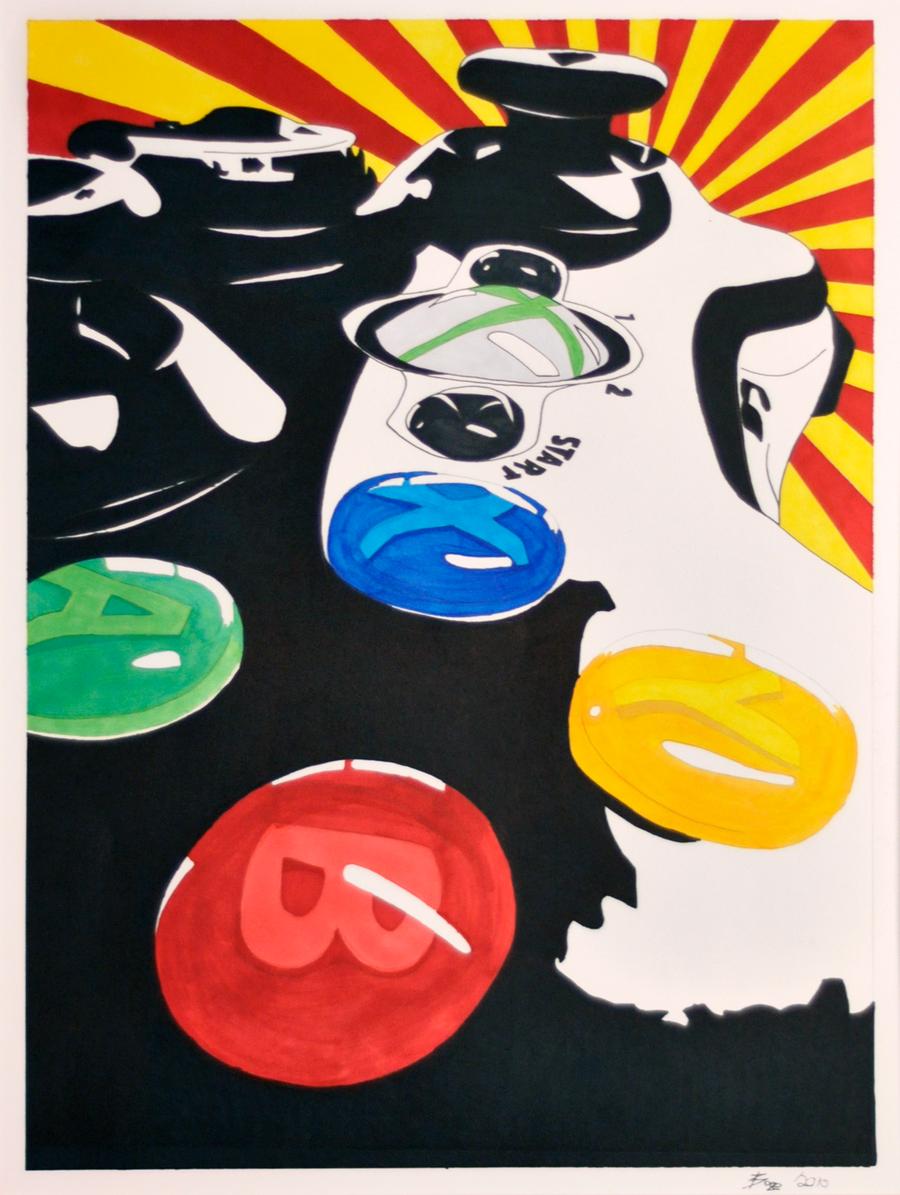 Pop Art Xbox by Bazey