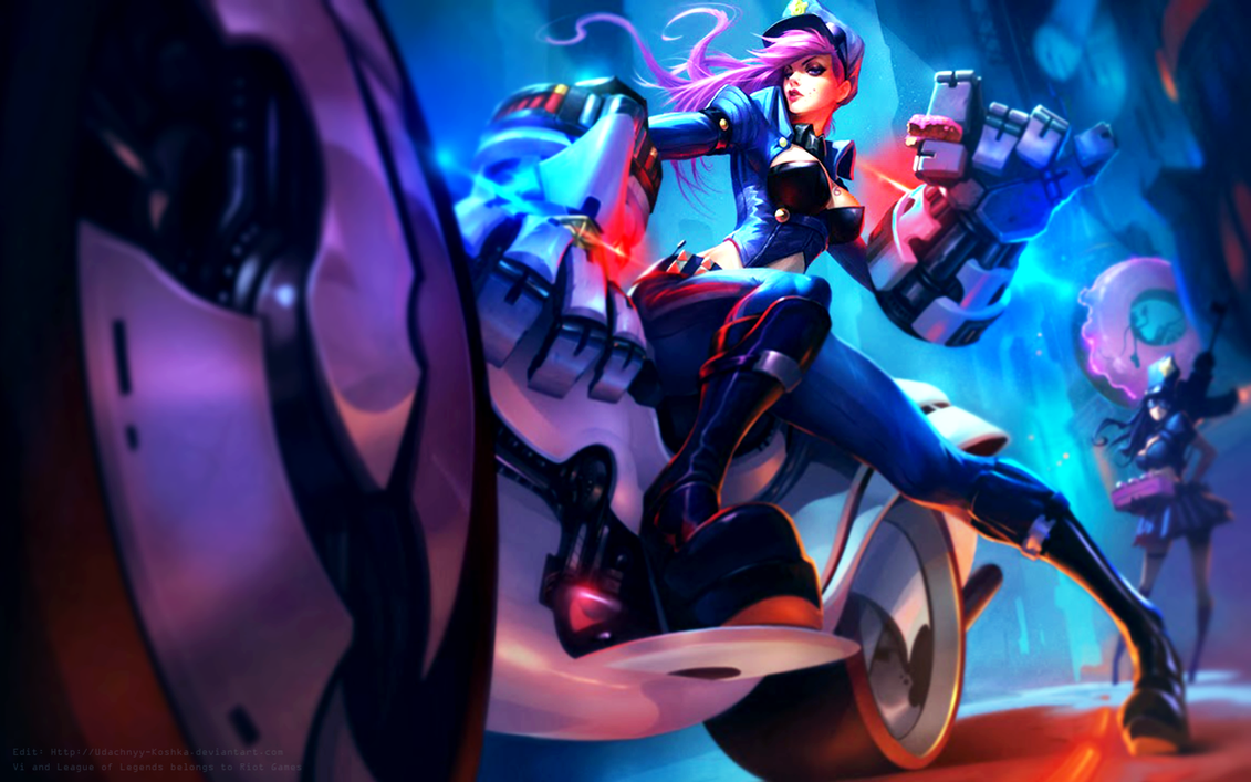 Officer Vi - Edit - Wallpaper by Koshka-Stuff