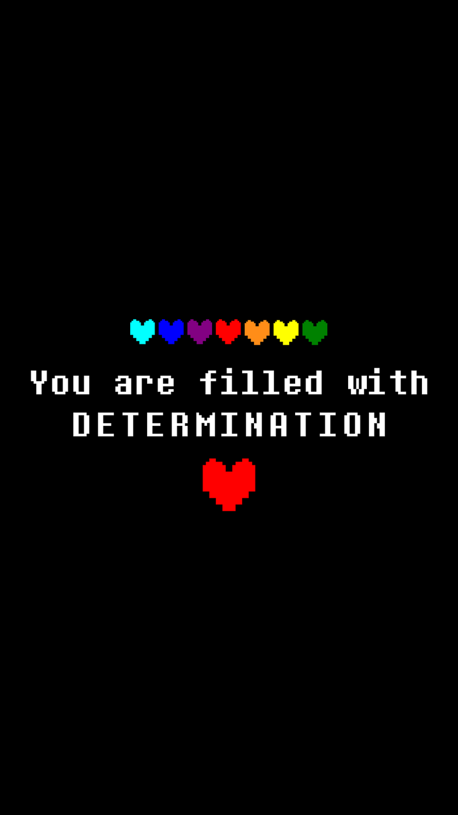 DETERMINATION - HD Mobile Undertale Wallpaper by Koshka ...