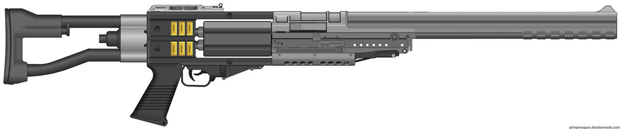 Diesel Punk Revolver Rifle by Lord-Malachi