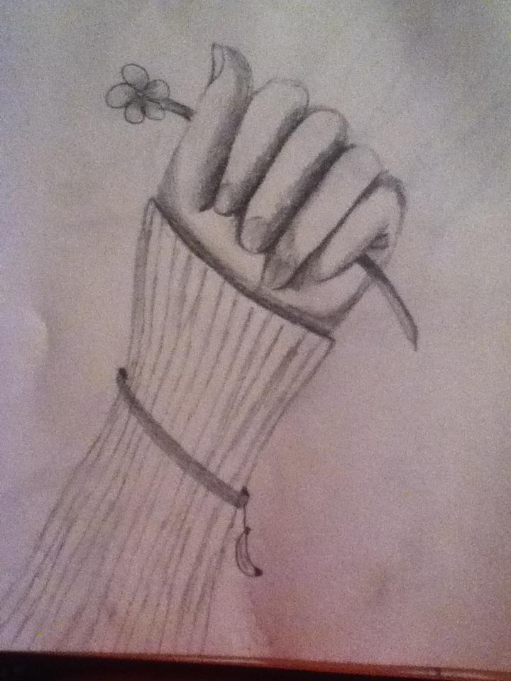 Hand holding a flower by black rose 101 on deviantart for Hand holding a rose drawing