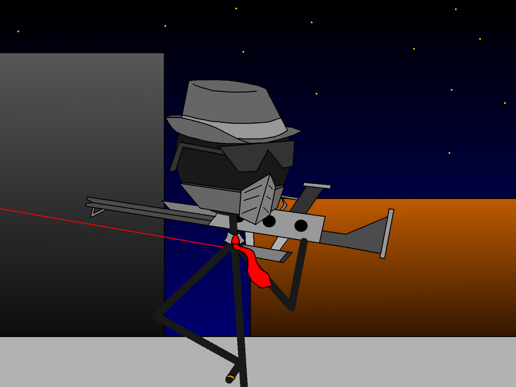 The Sniper From Smoking Kills by catoclum