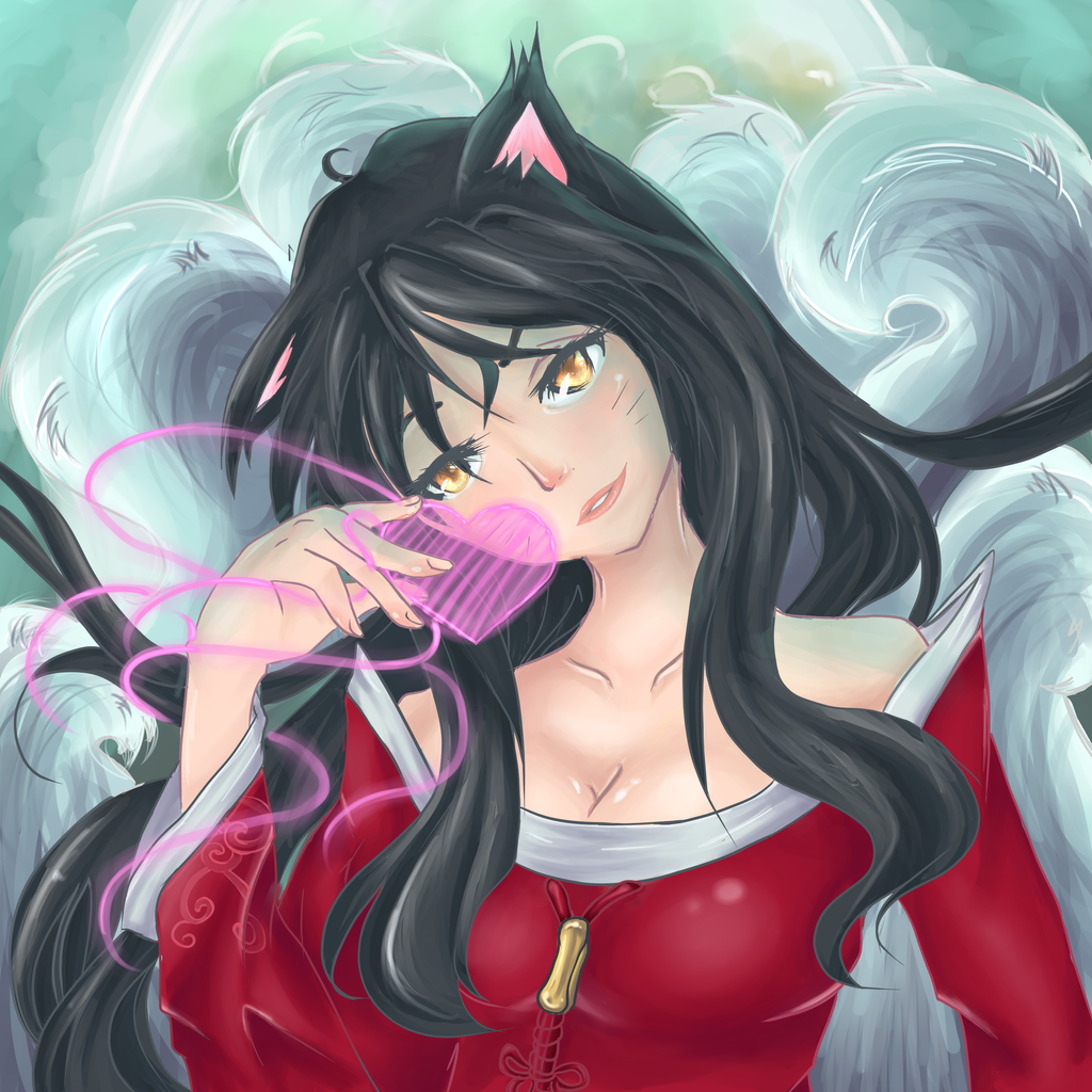Ahri- League of Legends by Nakkiami