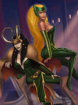 Lady Loki and Amora clothed