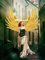 Gold angel by theheek