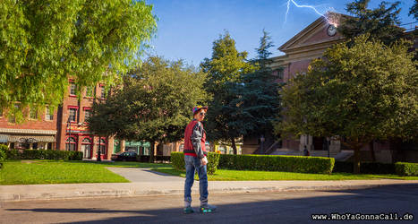 Back to the Future visiting Hill Valley