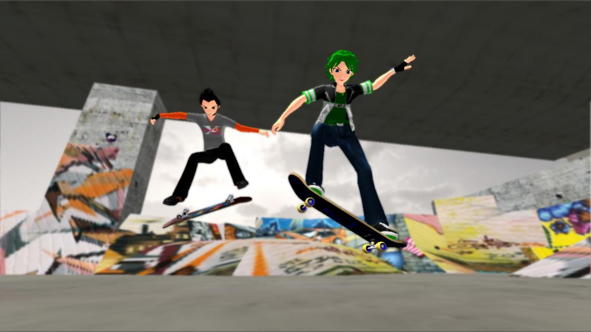 Skateboarding by Rolneeq