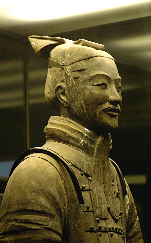 Terracotta portrait by Lai-Wei