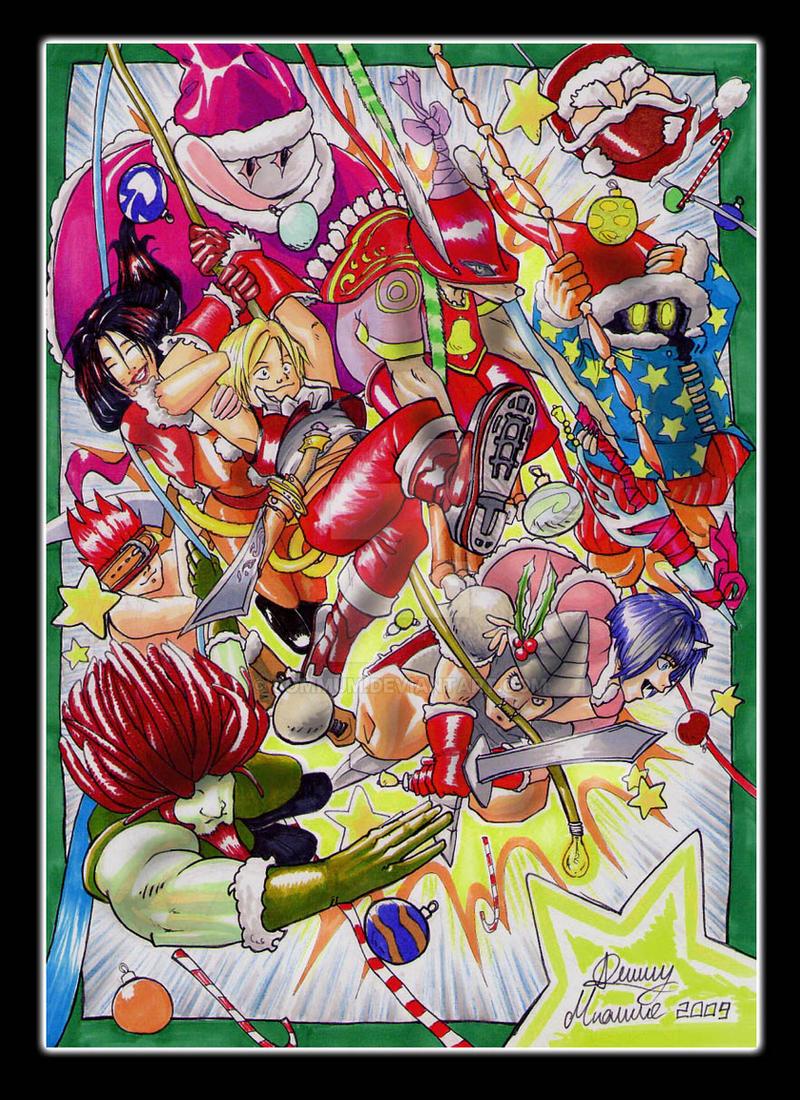 final fantasy IX christmas by Sommum