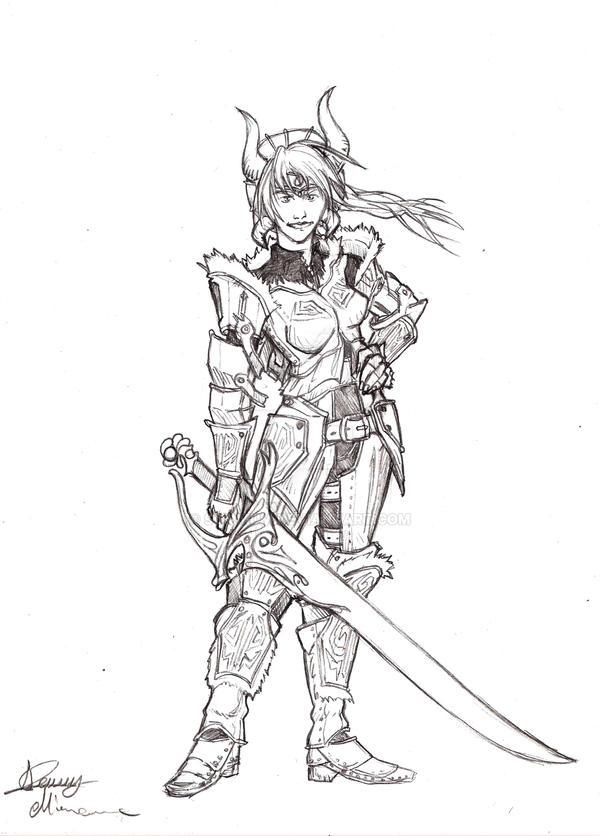 Woman warrior by Sommum