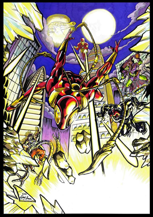 Iron Spiderman escape! by Sommum