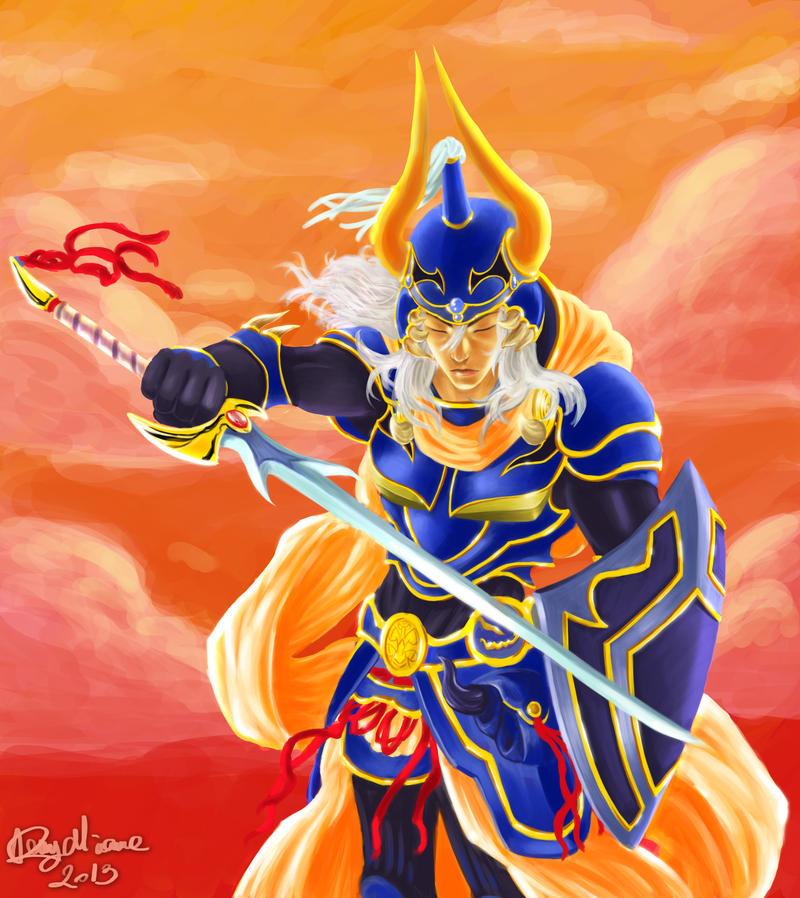 Warrior of light by Sommum