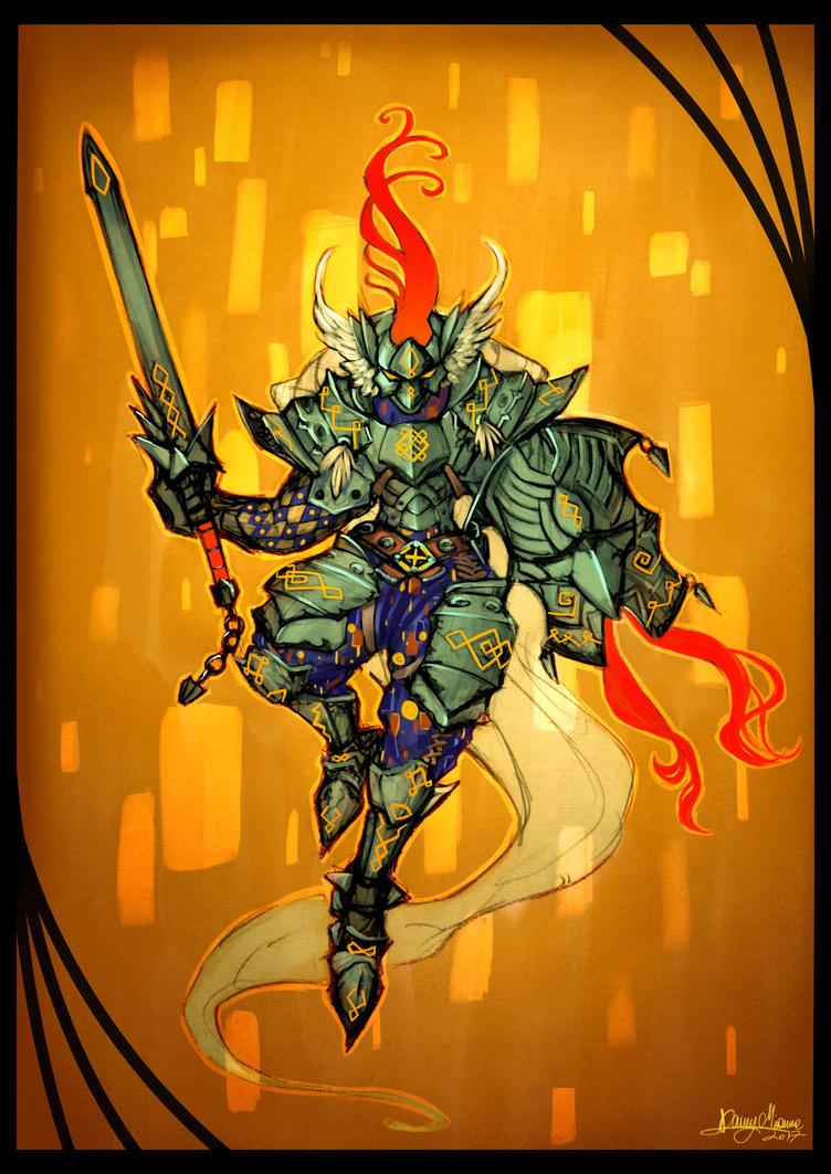 Klimt Knight by Sommum