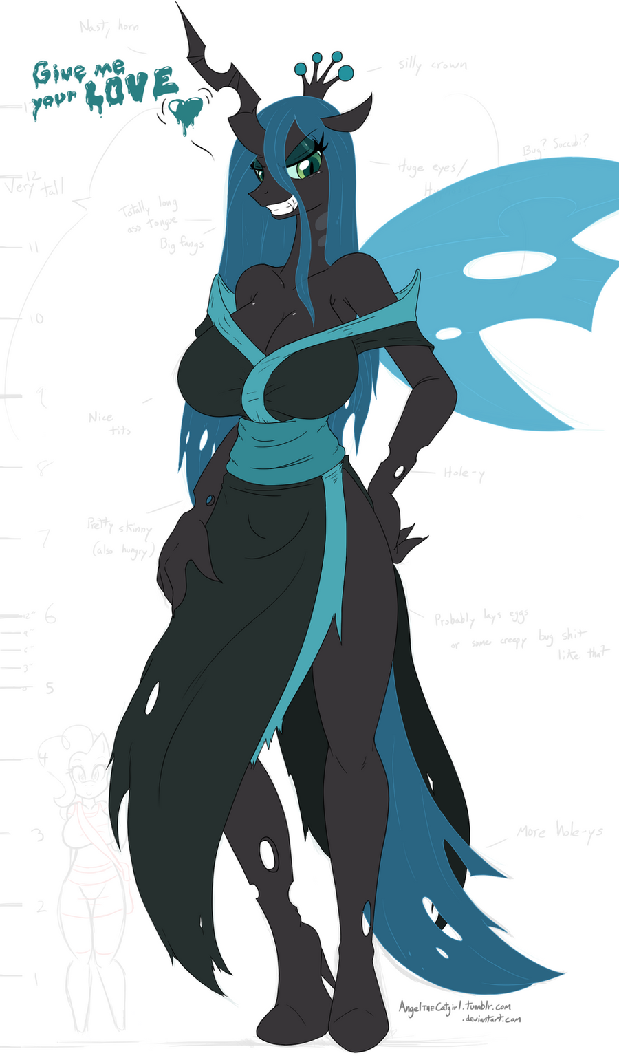 Queen Chrysalis WIP by AngelTheCatgirl