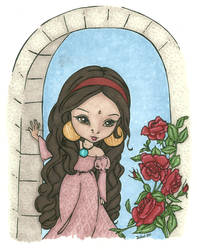 Arabian Roses Colored by katydoench