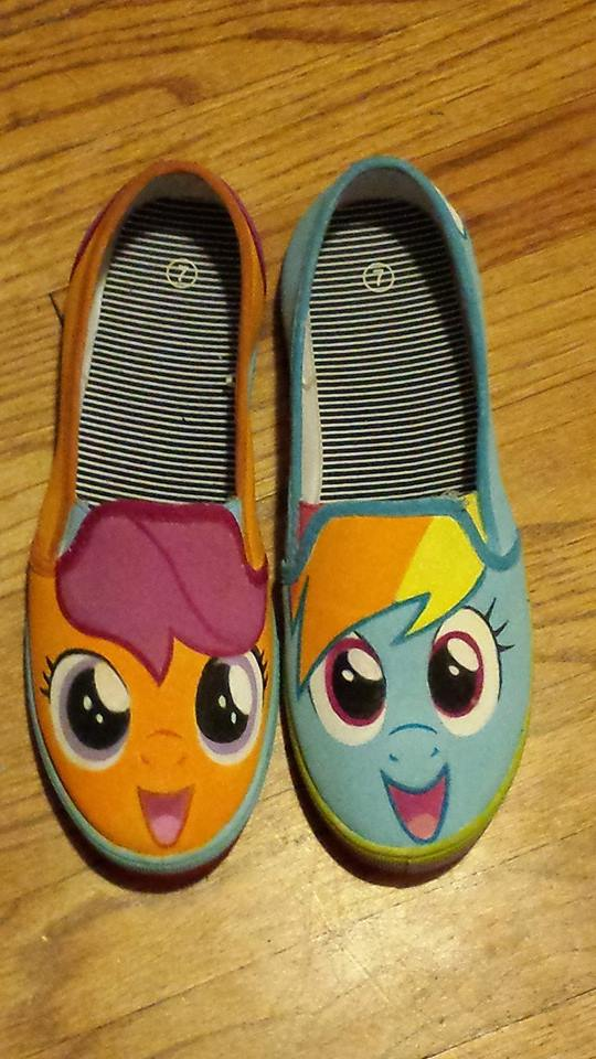 Custom Painted MLP women's size 7 Shoe by Wa-zaap