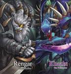 League of Legends fanart : rengar, khazix