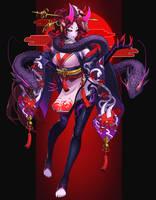 League of Legend Blood moon Evelynn Fanart by drogod