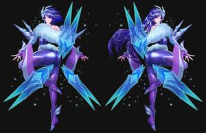 League of Legend Frostblade Irelia Fanart by drogod