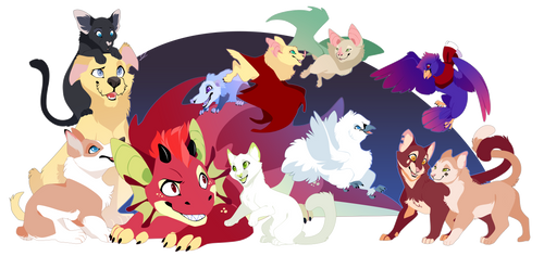 It's a bunch of furry babs