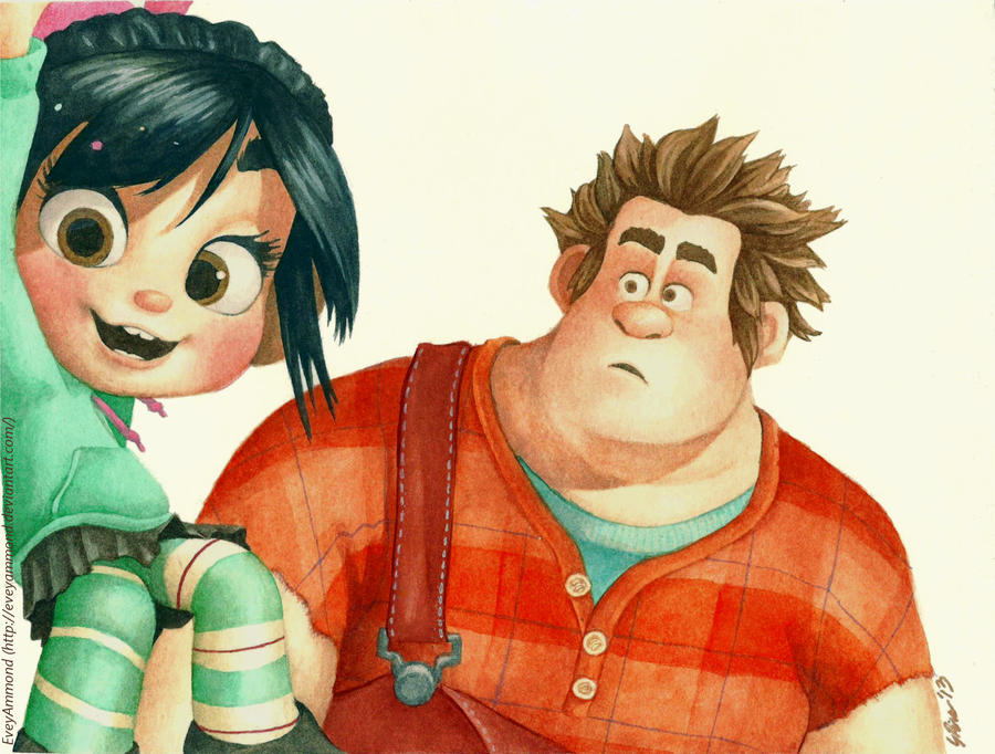 Wreck-it Ralph - Ralph and Vanellope by Poppysleaf