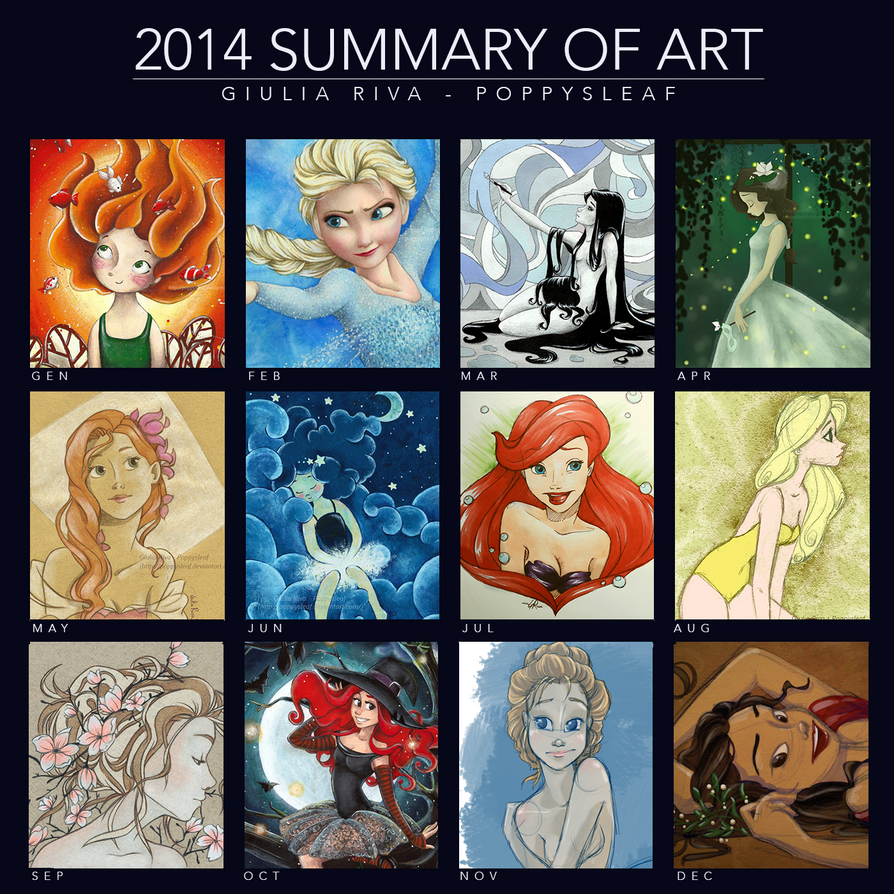 2014 - Summary of Art by Poppysleaf