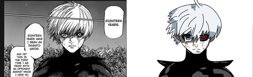 Manga to anime, Kaneki ken battle suit. by Ultraluigi13
