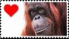 Stamp- Orangutan 3 by IsabellaPrice