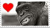 Stamp- Chimpanzee 3 by IsabellaPrice