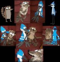 Mordecai and Rigby Plush by Cavity-Sam