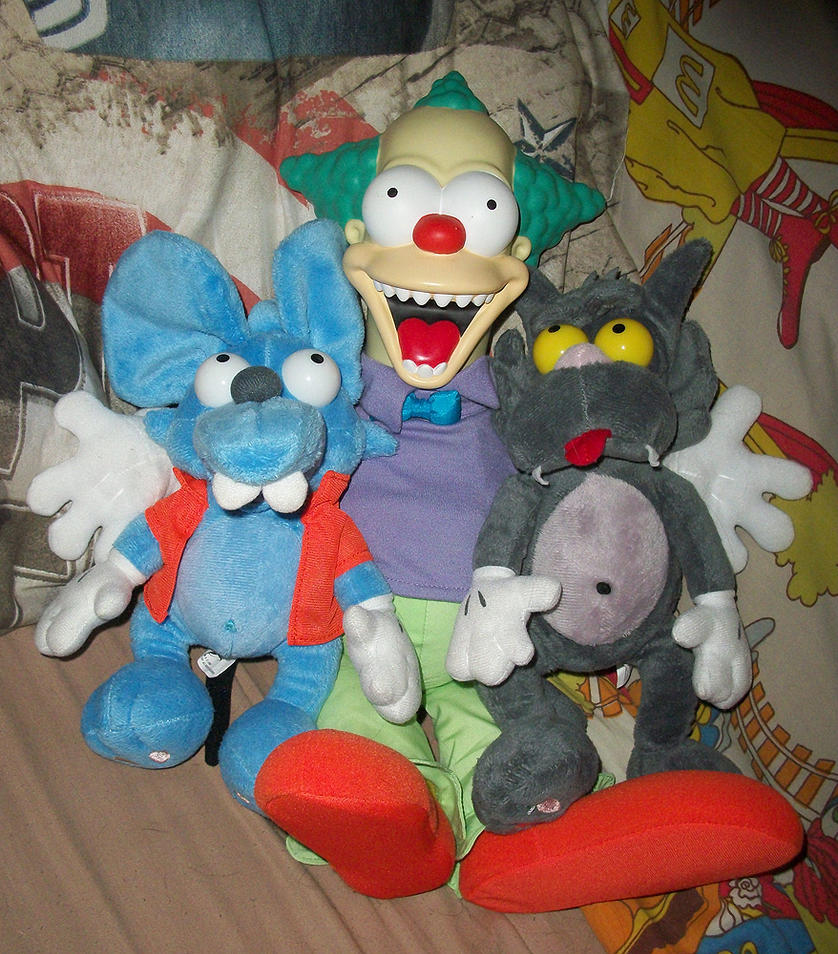 Itchy and Scratchy and Krusty by IsabellaPrice