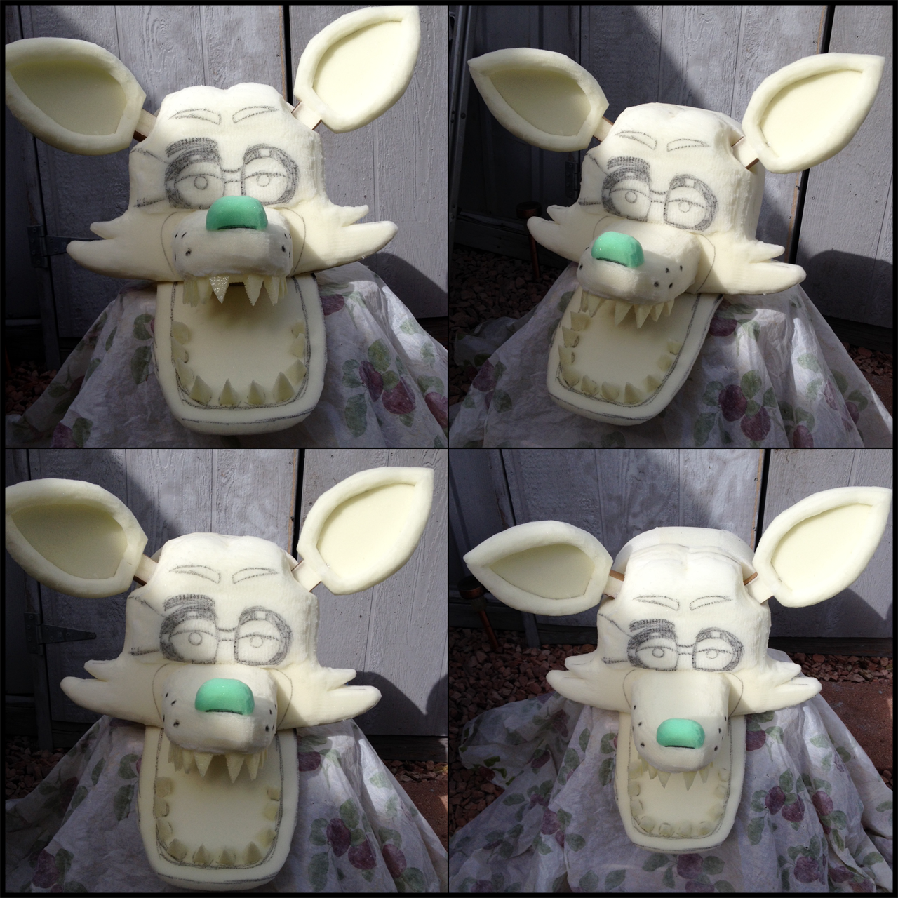 Fnaf bonnie costume for sale - Thisaccountisdead462 415 140 Foxy Head Base By Cavity Sam