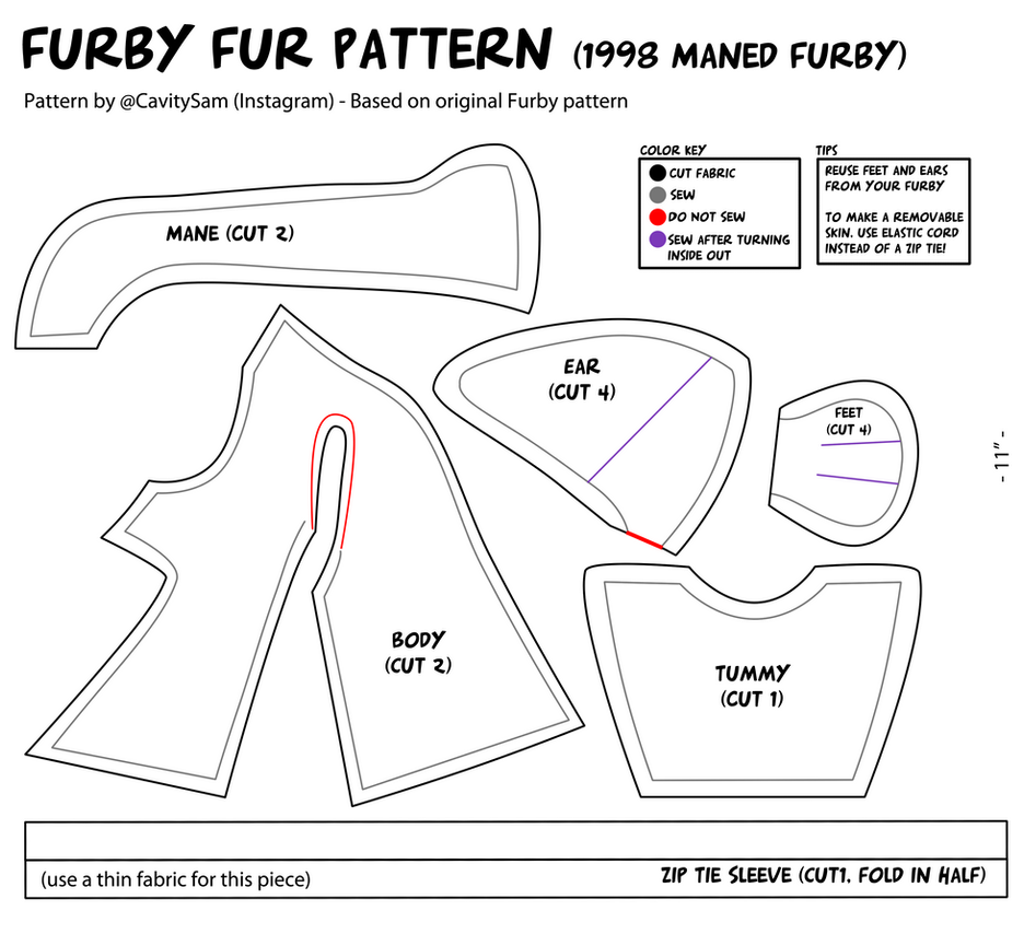 1998 Furby Fur Pattern (With Mane) by Cavity-Sam