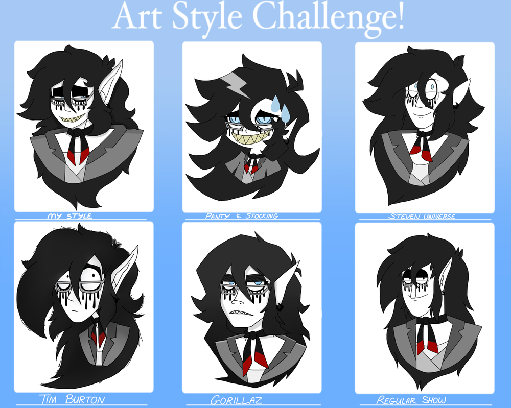 Different art styles by The-Capricious-Clown