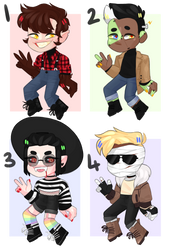 monster chibi adopts 2-5 [OPEN 2/4] by bopperinie
