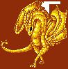 SPRITE: Gold Fanart by JaziSnake