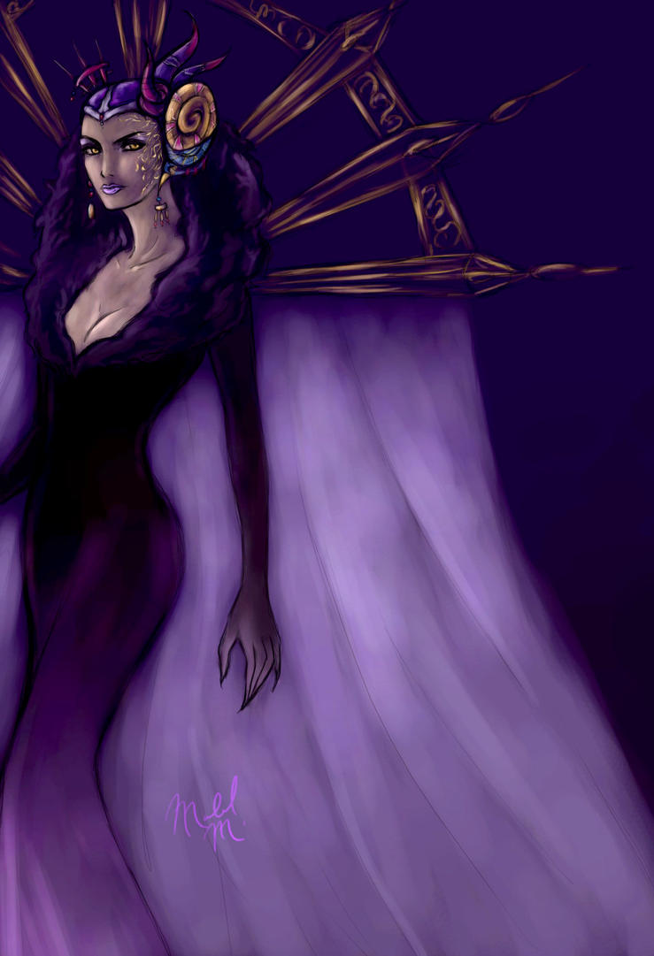 Fithos lusec: Sorceress Edea by DiamondReflection
