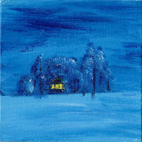 Cabin in Winter by trippyleaf