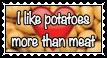 I like potatoes more than meat by Felix-Sebastian