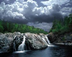 Falls at Aquasabon River Mouth by FOHYN
