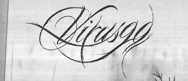 Virus90 logo sketch