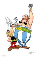 Asterix plain background by GARTART