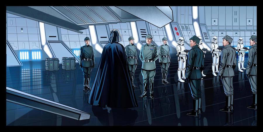 Darth Vader's Arrival by GARTART