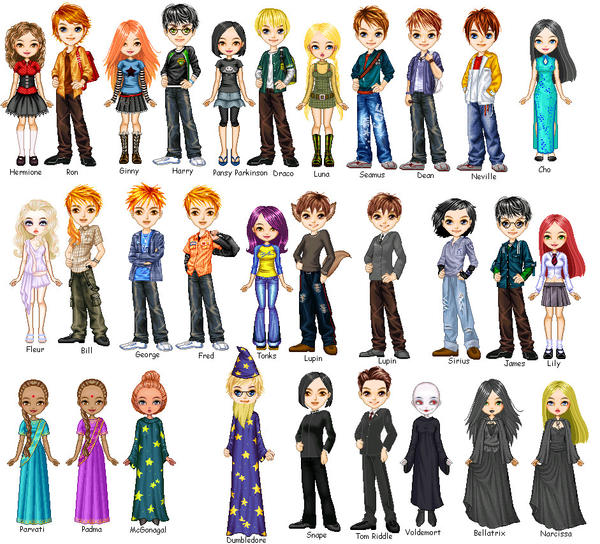 Harry Potter Pixel People By La Dauphine On Deviantart