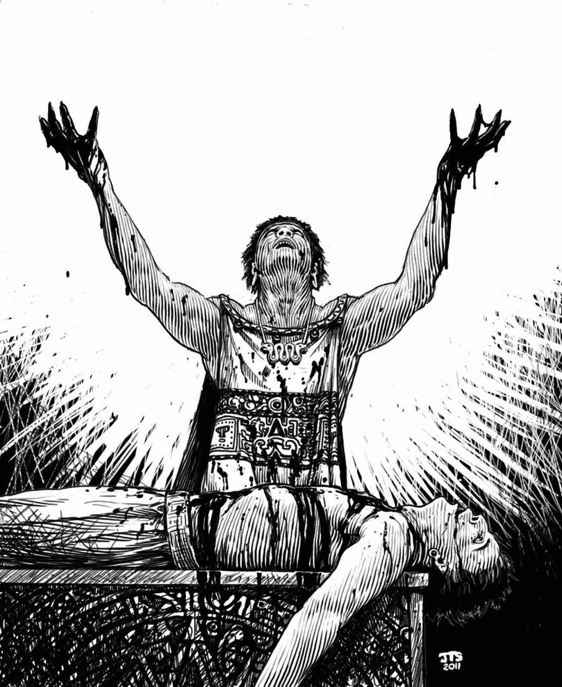 Aztec Sacrifice by artbyjts on DeviantArt