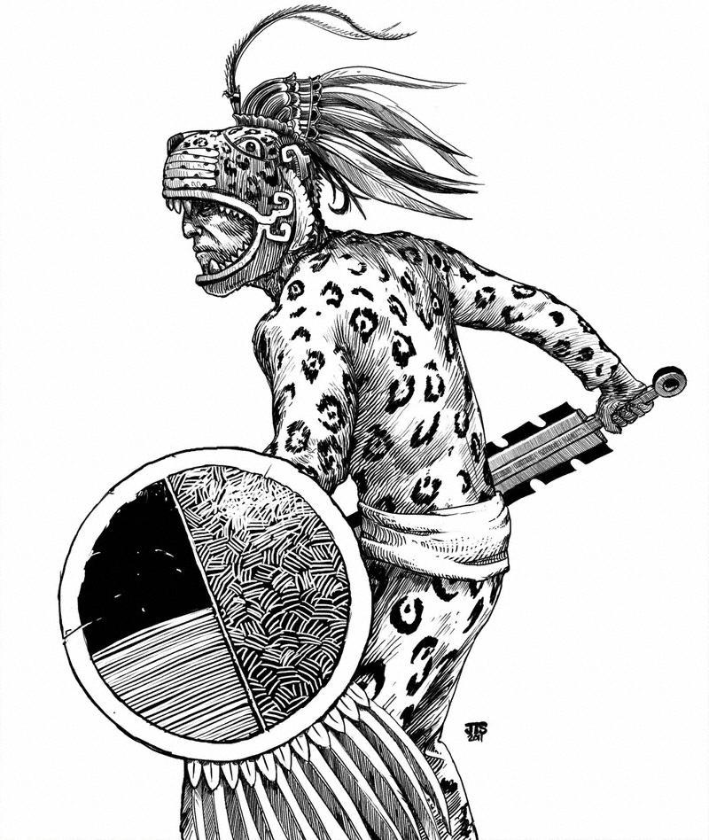 Aztec Jaguar Warrior by artbyjts on DeviantArt