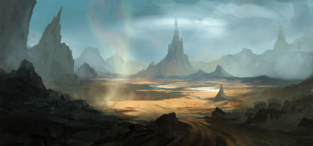 alien landscapes paintings - 1000×467