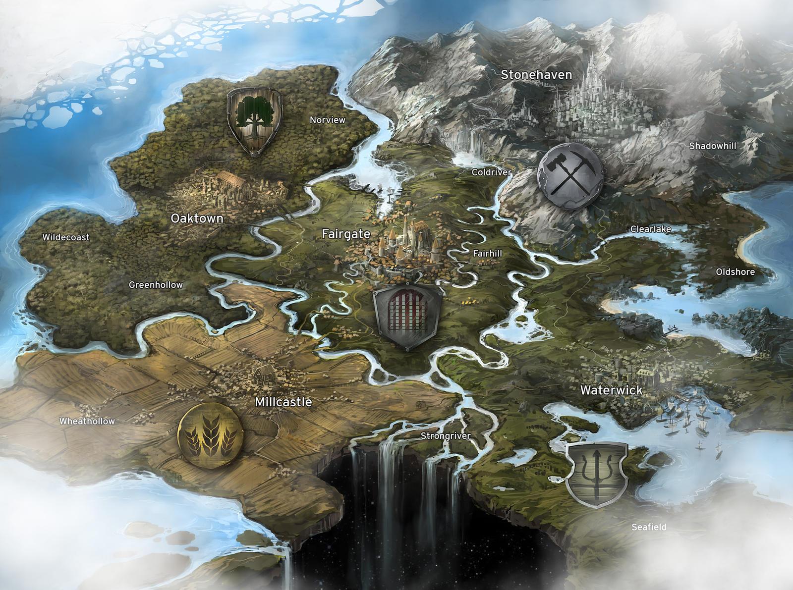 Fantasy Game Map